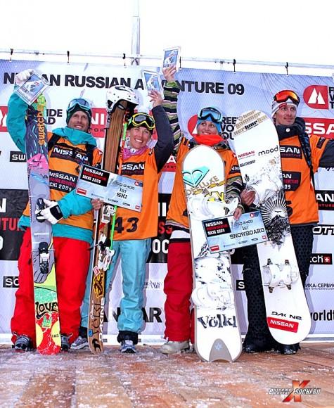 Победители NISSAN RUSSIAN ADVENTURE 2009 в Красной Поляна