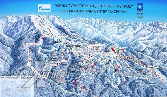 схема горнолыжного комплекса Газпром (Лаура)