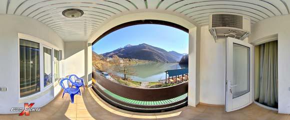 """Виртуальная панорама: Гостница """"Осьминог"""" - вид с балкона, 890 кб"""