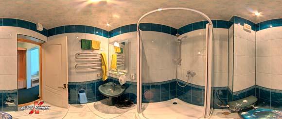 """Виртуальная панорама: гостиница """"Осьминог"""" - санузел,820 кб"""
